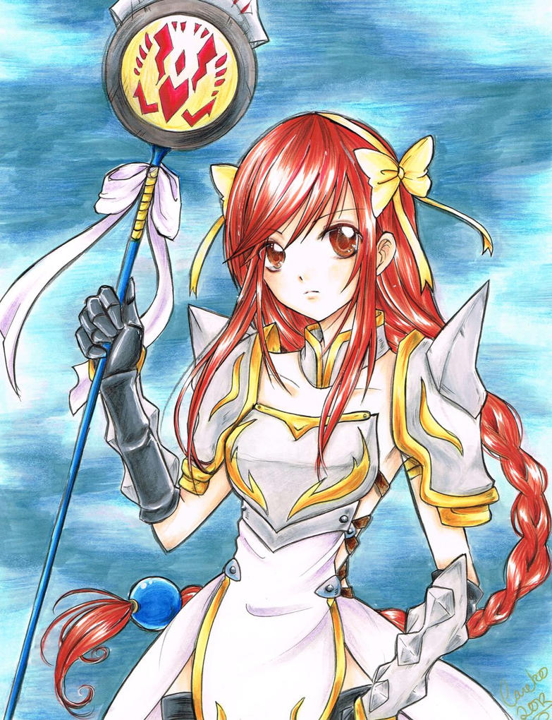 Fairy Tail Erza Sea Empress Armor Erza Lightning empress armor