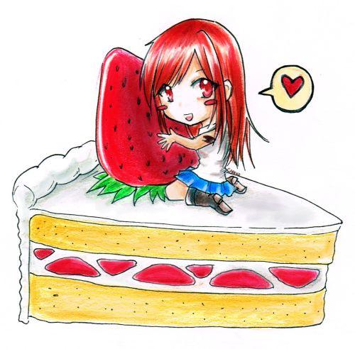 FT - Erza's cake by careko