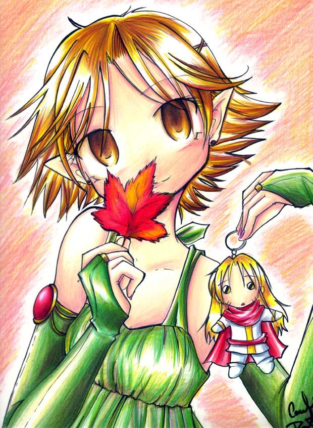 Wish of  an Autumn Leaf by careko