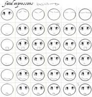 Facial expressions tut by careko