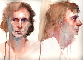 Male Portraits in Watercolor by jia-jia