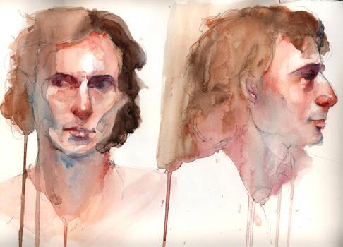 Male Portraits in Watercolor