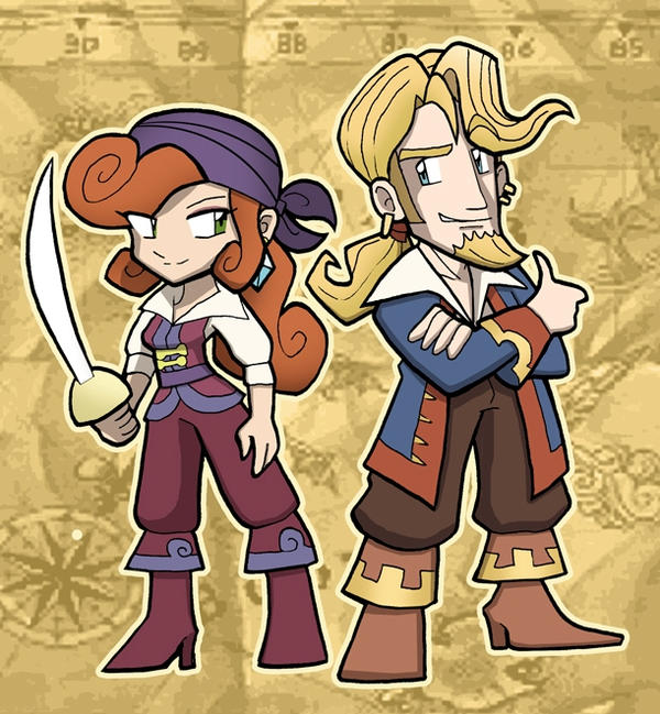 MONKEY ISLAND Guybrush and Elaine by SandikaRakhim