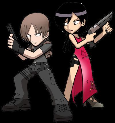 RE4 Leon and Ada by SandikaRakhim