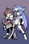 Shion and KOS-MOS
