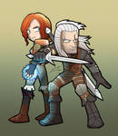 THE WITCHER Gerald and Triss