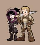 DRAGON AGE ORIGINS Morrigan and Alistair