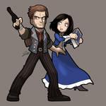 BIOSHOCK INFINITE Booker DeWitt and Elizabeth