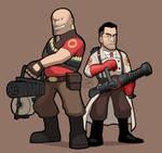 TF2 Heavy and Medic