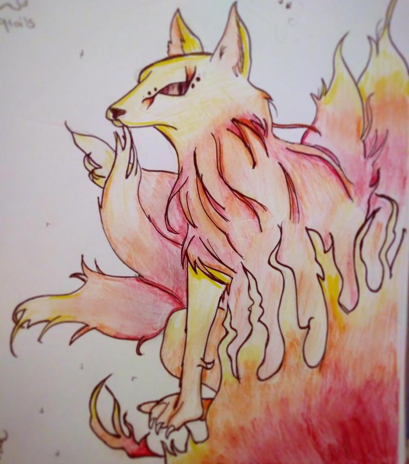 Fire Wolf by JeremyIsHeere