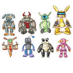Colorfull Robots!