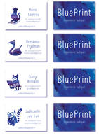 Collectif BluePrint Business  card by kadjura