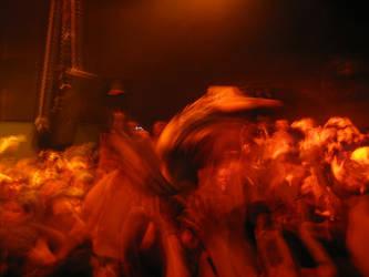 Jonne stage crowd surfin' by Korpiklaani-fanclub