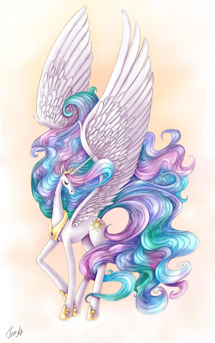 MLP: Princess Celestia by TomkaViolea