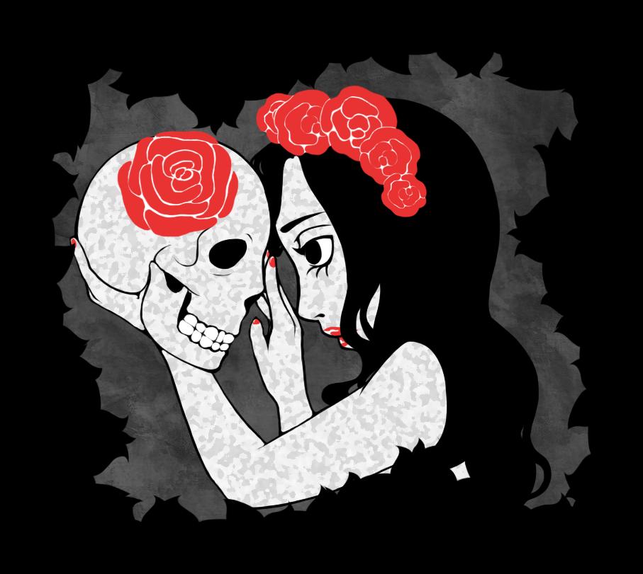 Deathly Roses by DarkneseOfNightmares