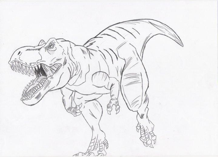 my t rex drawingjockiz on deviantart
