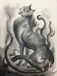 Witch cat by aogachou