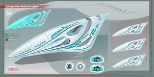 Concept Ship Sophon Medium 01 by Kryssalian