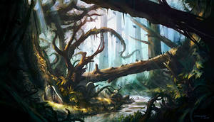 The Forest's Graveyard by Kryssalian