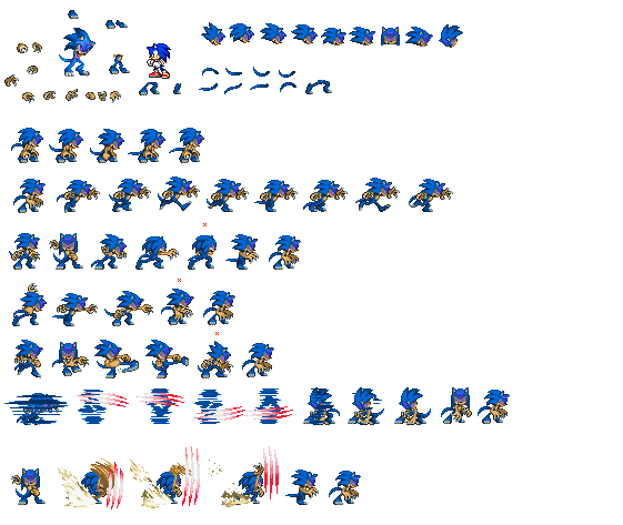 Orochi sonic sprites by ralord