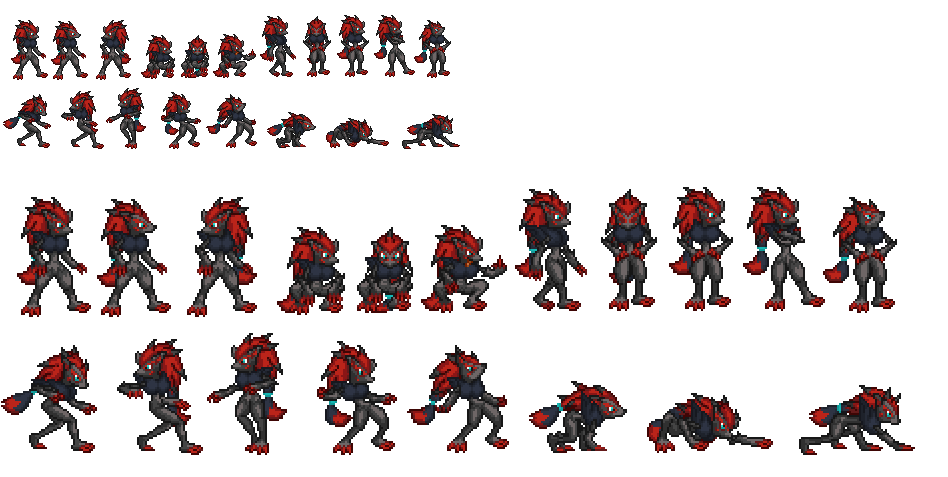 Zoroark Sprite sheet Update 1 by ralord on DeviantArt