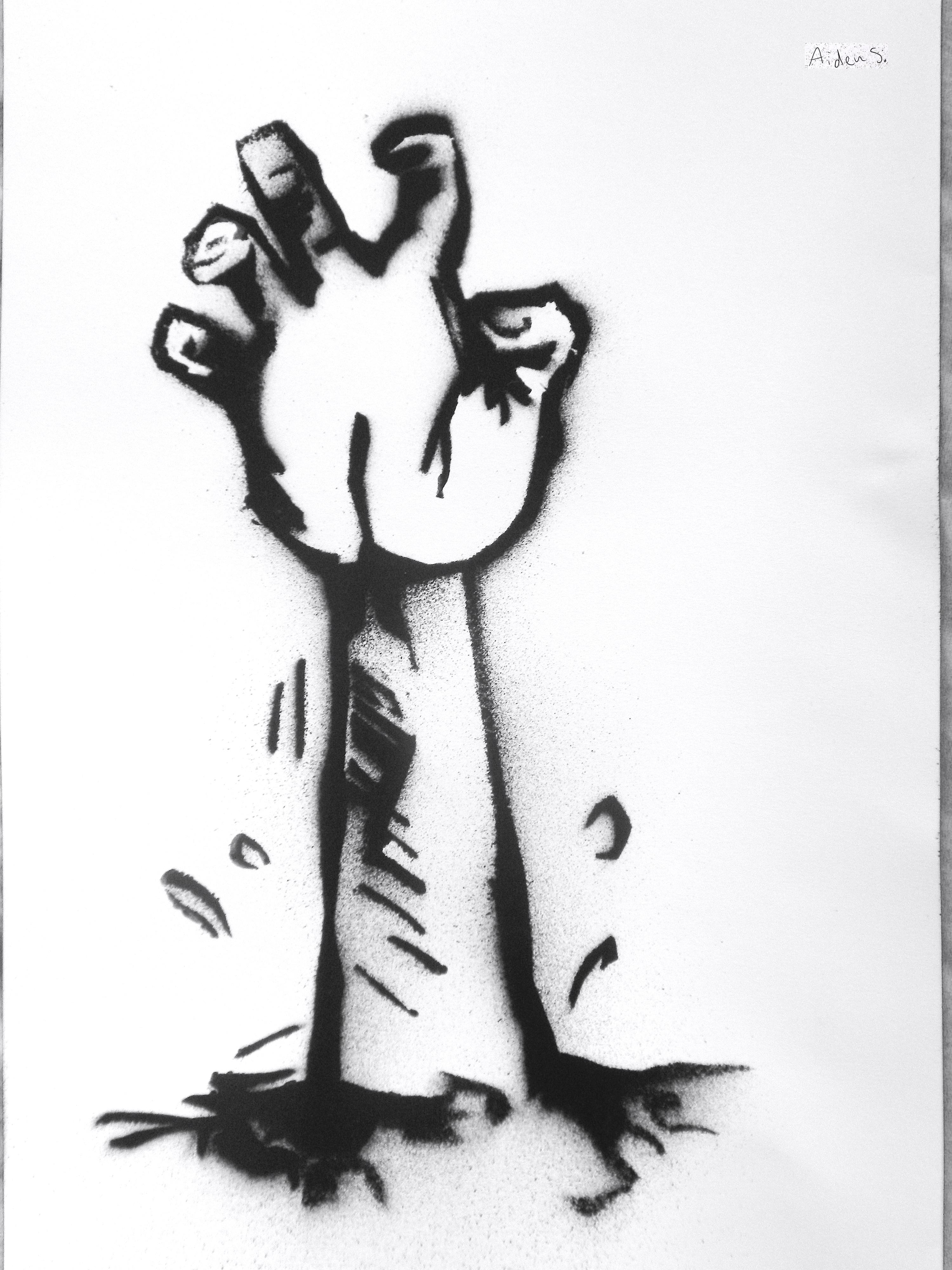 Zombie Hand Stencil by bichetordue on DeviantArt