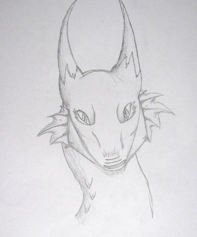 Dragon head pencil sketch 5 by corishadowfang