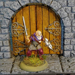Bronze Age miniatures Old Northsman by Gunderic
