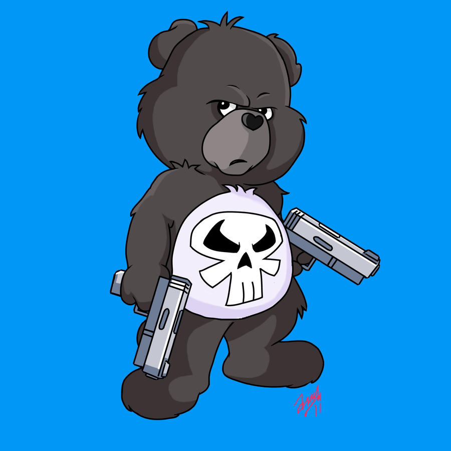 Care Bears Wallpaper: Punisher Care Bear By Amydrewthat On DeviantArt