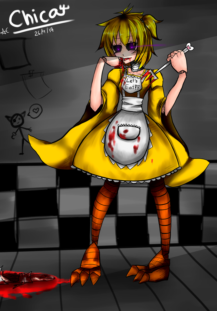 Five nights at freddy s chica want some meat by allencrist on
