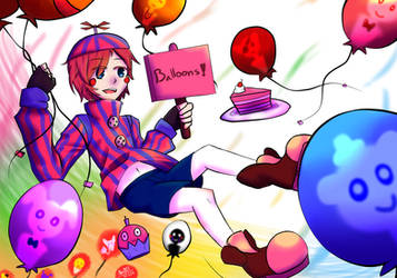 Fnaf's : BB - Balloons for everyone by AllenCRIST