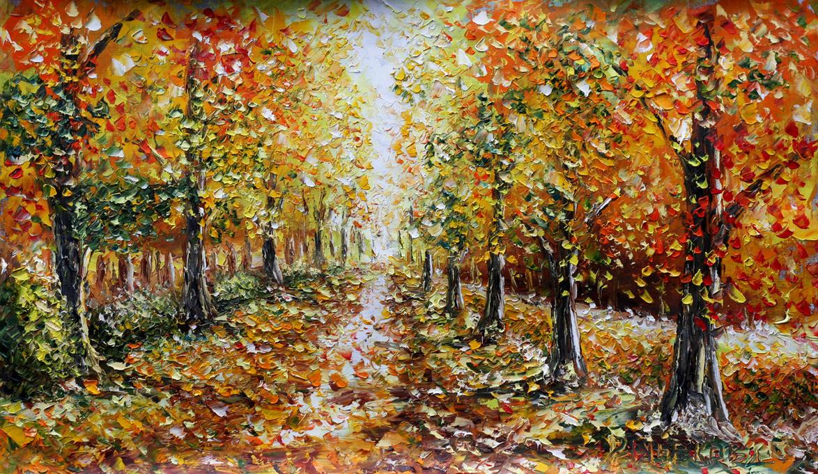осень в парке фото рисунок