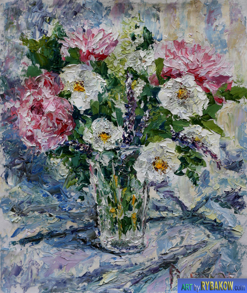 Flowers In A Vase Painting Vases Sale