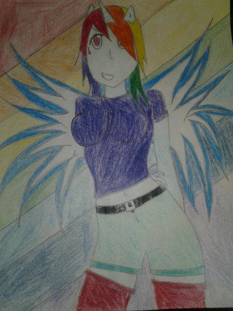 Rainbow Alicorn Dash by Sosodei101
