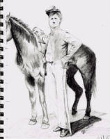 Civil War Cavalry Sketch