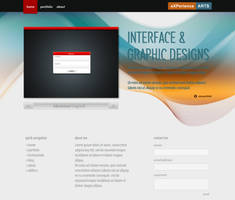 Wave Portfolio Homepage by eXPerienceARTS