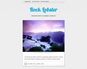 Rock Lobster WordPress theme