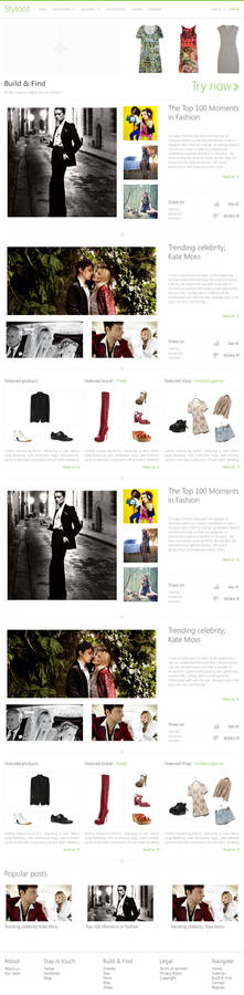 Styloot Homepage Concept