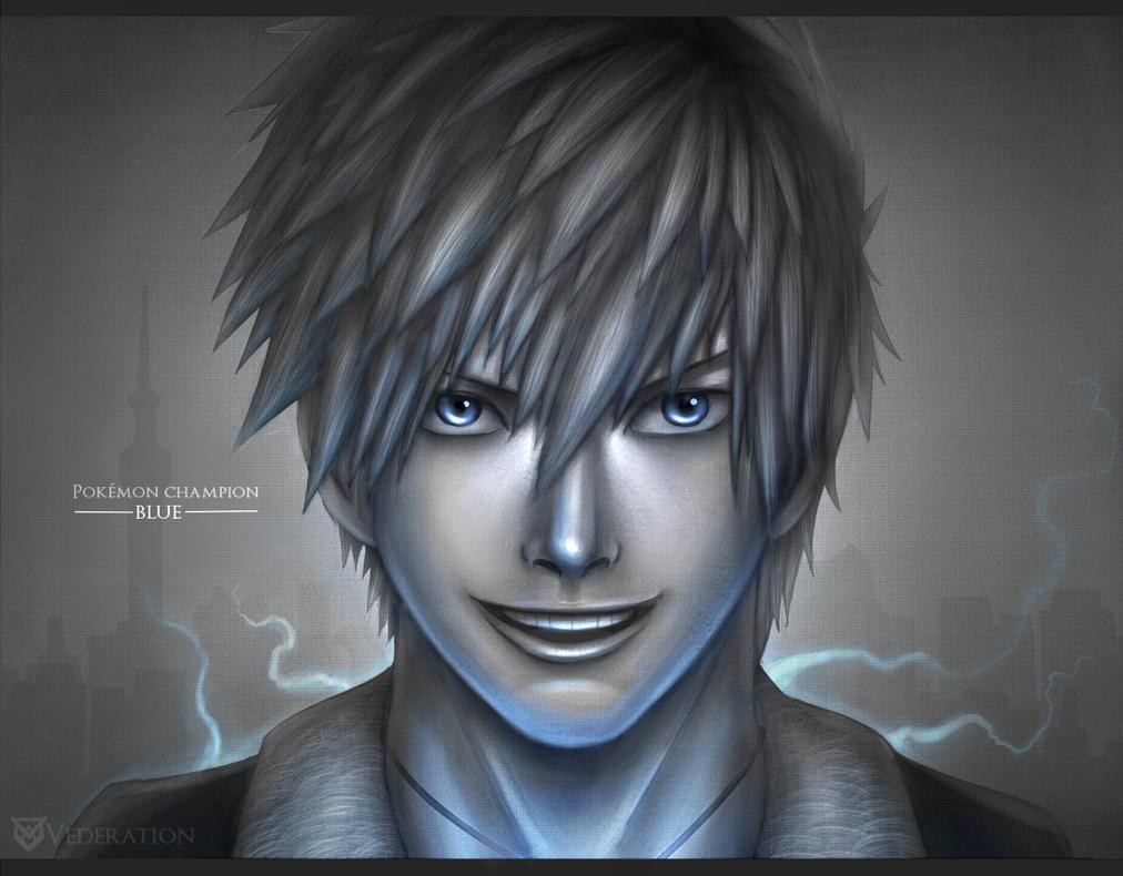 Pokemon Champion Portraits #1: Blue by Vederation