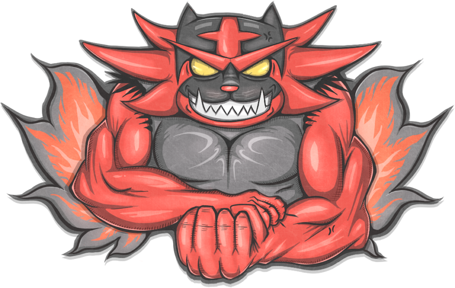 Overlord Incineroar by Vederation