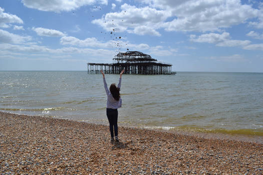 Throwing stones to the sea