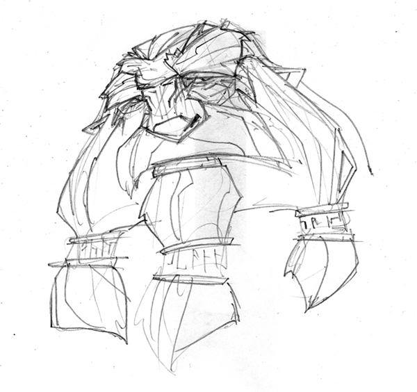 5  minute Dwarf Head Sketch by hangemhigh13