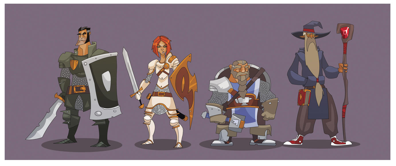 DnD (based) Party XIII by hangemhigh13