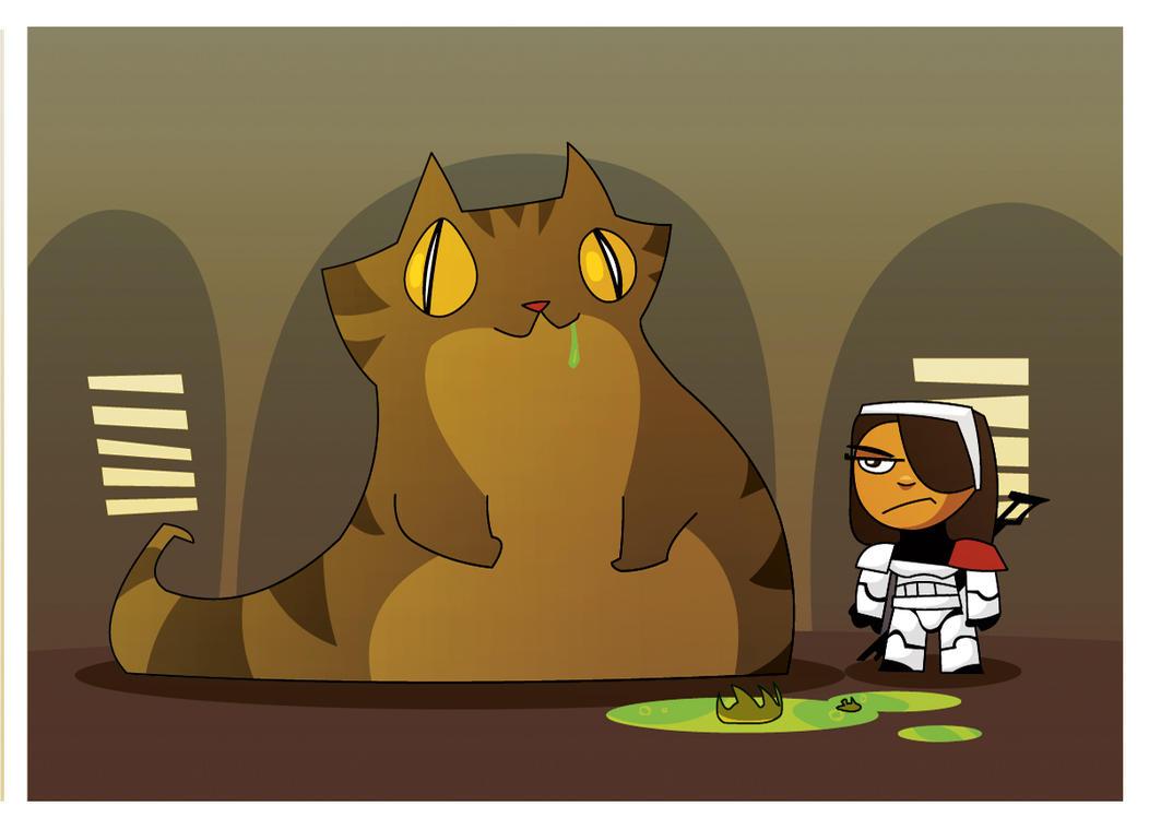 Jabba the Cat by hangemhigh13