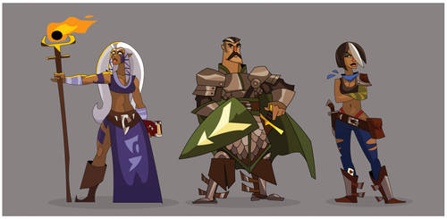 Core Heroes by hangemhigh13