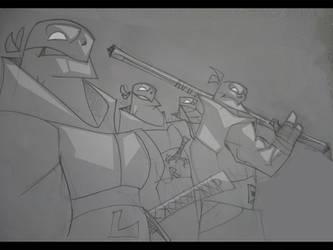 Dirty Sketch #1-4 - Turtles by hangemhigh13