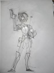 Dirty Sketch #5 - Sabine Wren by hangemhigh13
