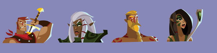 DnD Party Portraits vol. III by hangemhigh13