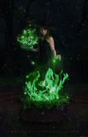 The Witch Of The Green Fire by MaraSFM