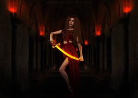 Princess with sword by MaraSFM